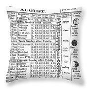 Family Almanac, 1874 Throw Pillow