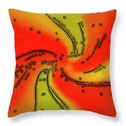 Fantasy In Red Throw Pillow