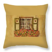 Farm Window Throw Pillow