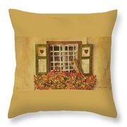 Farm Window Throw Pillow