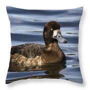 Female Scaup Throw Pillow