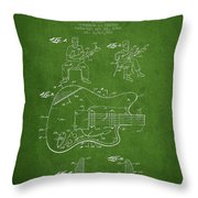 Fender Guitar Patent Drawing From 1960 Throw Pillow