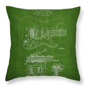 Fender Tremolo Device Patent Drawing From 1956 Throw Pillow