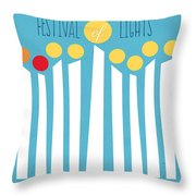 Festival Of Lights Throw Pillow