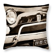 Fiat 500 L Front End Throw Pillow