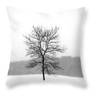 Fight Against The Storm Throw Pillow