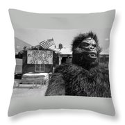 Film Homage Barbara Payton Bride Of The Gorilla 1951 Gorilla Mascot July 4th Mattress Sale 1991 Throw Pillow