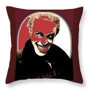 Film Homage Conrad Veidt The Man Who Laughs 1928-2013 Throw Pillow