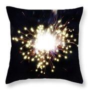 Fireworks Shell Burst Throw Pillow by Jay Droggitis