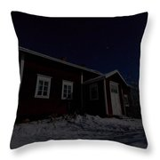 First Snow In Kovero Throw Pillow