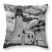 Flamborough Head Lighthouse Throw Pillow