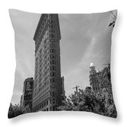 Flatiron Building Manhattan  Throw Pillow