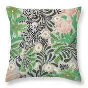Floral Design Throw Pillow by William Morris