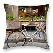 Florence Bicycle  Throw Pillow