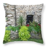 Flower Bed Throw Pillow
