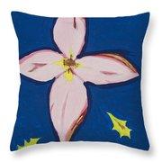 Flower Throw Pillow by Melissa Dawn
