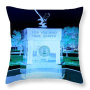 For Those Who Have Served Throw Pillow
