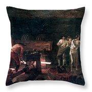 Foundry, 18th Century Throw Pillow