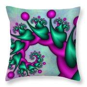 Fractal Neon Catwalk Throw Pillow