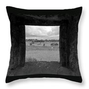 Framed Irish Landscape Throw Pillow