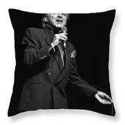Singer Frankie Valli Throw Pillow