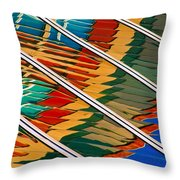 Free Flowing Throw Pillow