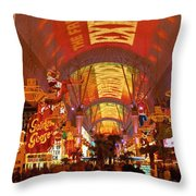 Fremont Street Experience Las Vegas Nv Throw Pillow