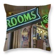 Fresh Restrooms Throw Pillow