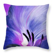 From The Heart Of A Flower Blue Throw Pillow