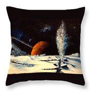Frozen Geyser Throw Pillow