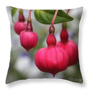 Fuchsia Named Dark Eyes Throw Pillow