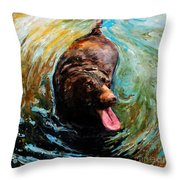 Fudge Ripple Throw Pillow