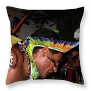 Fulnio Indians Of Brazil  Throw Pillow