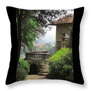 Garden View Throw Pillow