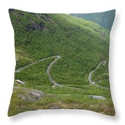 Gaularfjell Panorama Throw Pillow