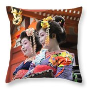 Geishas Senso Ji Throw Pillow