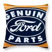 Genuine Ford Parts Sign Throw Pillow