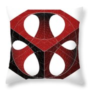 Geometric Subtraction Of Cube And Sphere  Throw Pillow