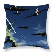 German Sonderkommandos Ram Allied Throw Pillow