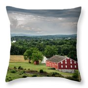 Gettysburg Barn Throw Pillow