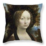 Ginevra De Benci Throw Pillow