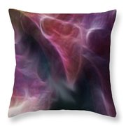 Gladiola Nebula Triptych Panel 3 Throw Pillow