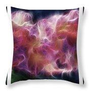Gladiola Nebula Triptych Throw Pillow