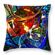 Glass Abstract 691 Throw Pillow