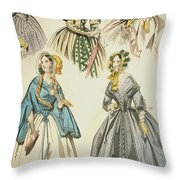 Godey's Lady's Book, 1842 Throw Pillow