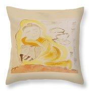 Golden Maiden Throw Pillow