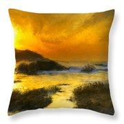 Golden Sky Throw Pillow
