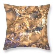 Golden Synapse Throw Pillow