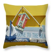 Gone To The Beach Throw Pillow