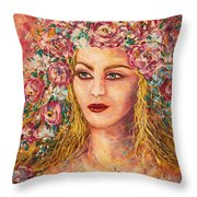 Good Fortune Goddess Throw Pillow